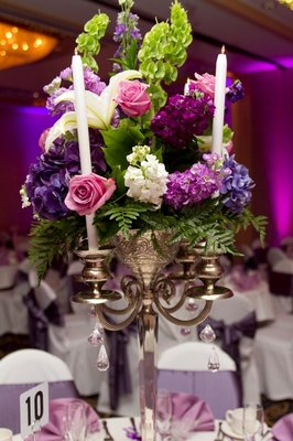 wedding reception flowers or centerpieces
